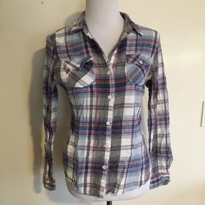 Mossimo Flannel Plaid Shirt Button Down